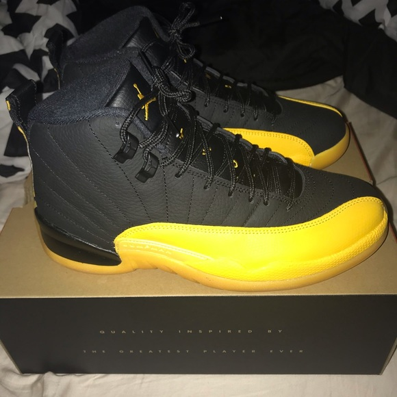 Jordan Shoes Air 12 University Gold Poshmark